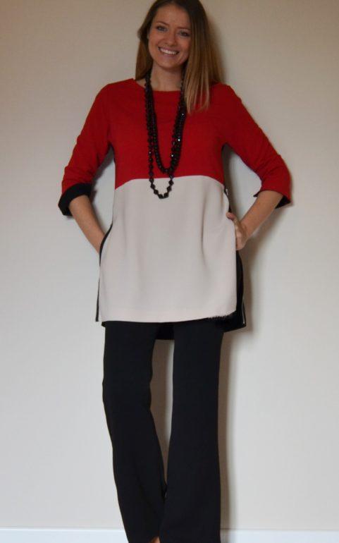 Blusa color block